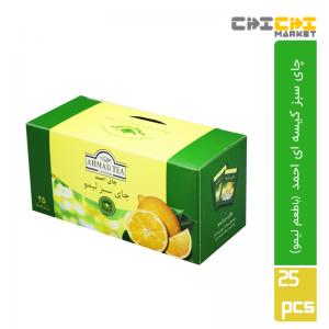 چای سبز تی بگ احمد با طعم لیمو